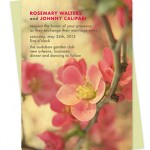 Flowering Quince Wood Wedding Invitations