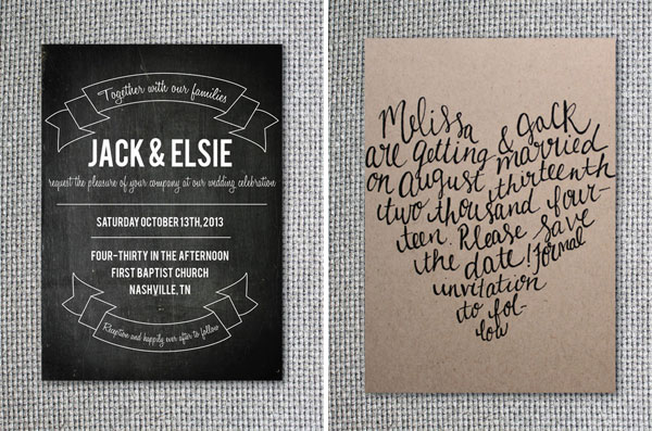 Chalkboard & Calligraphy Wedding