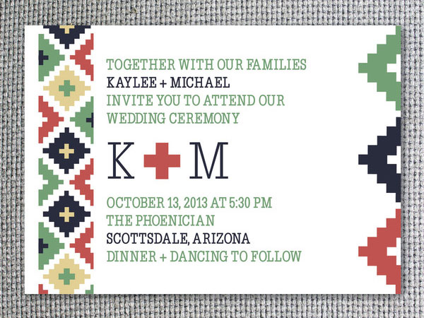 Southwestern Wedding Invitations