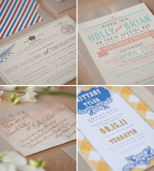 Jen Simpson Design Wedding Invitations