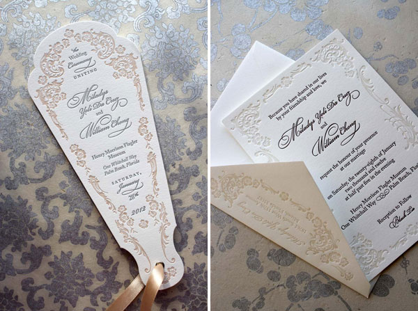 Ornate Letterpress Wedding Suite by Chauhie