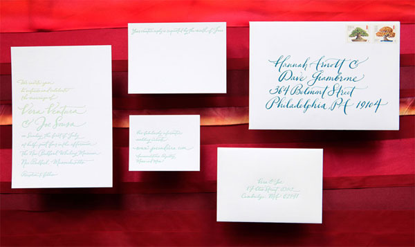 Split Fountain Wedding Invitations