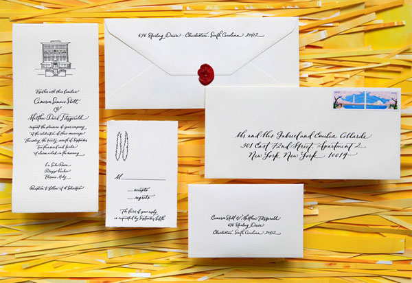 Illustrated Arturo Wedding Invitations