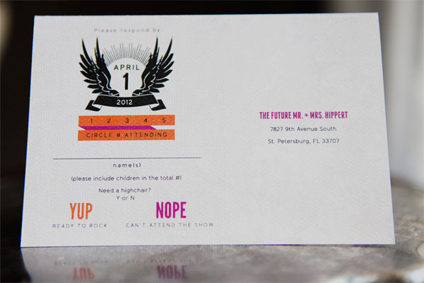 Rock 'n' Roll RSVP Card
