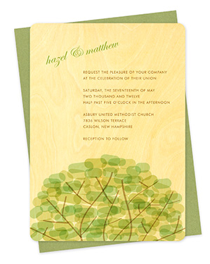 Treetop Wood Wedding Invitations