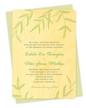 Wispy Bamboo Wood Wedding Invitations