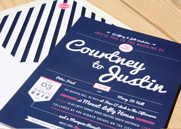Preppy Modern Wedding Invitations