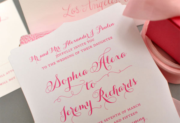 Elegant Die Cut Wedding Invitations