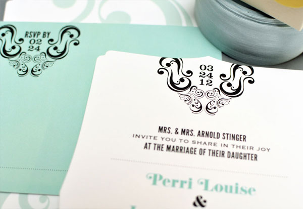 Modern Die Cut Wedding Invites