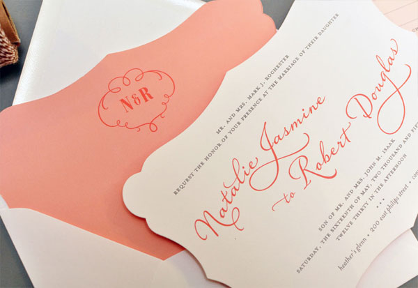 Sweet Die Cut Wedding Invitations