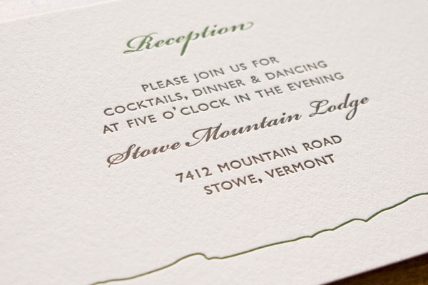 Clean Wedding Invitation Typography
