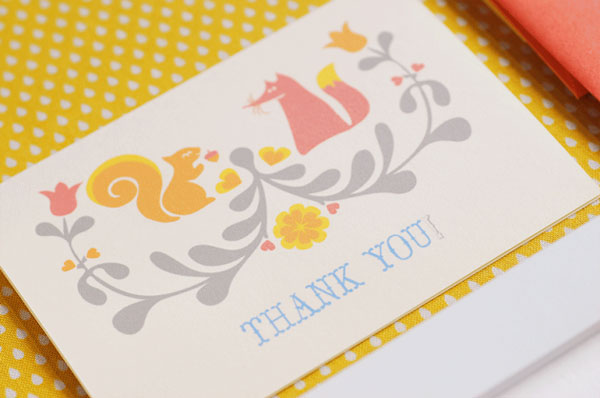 Folk Art Thank You Card