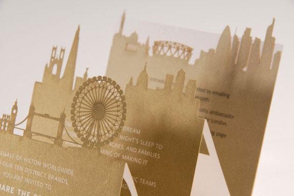 Laser Cut Olympics Invitations