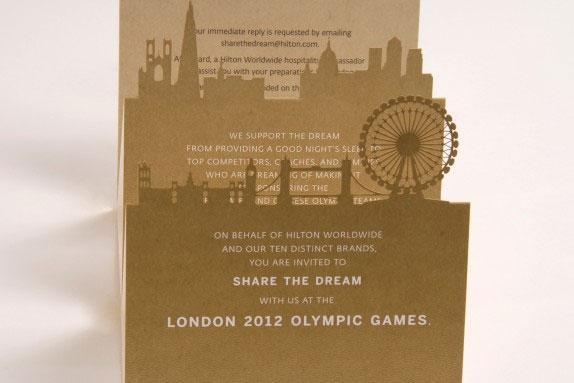 Laser Cut Olympics Invitation