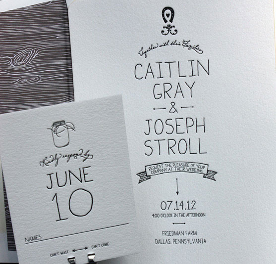 Mason Jar Woodgrain Wedding Invitations