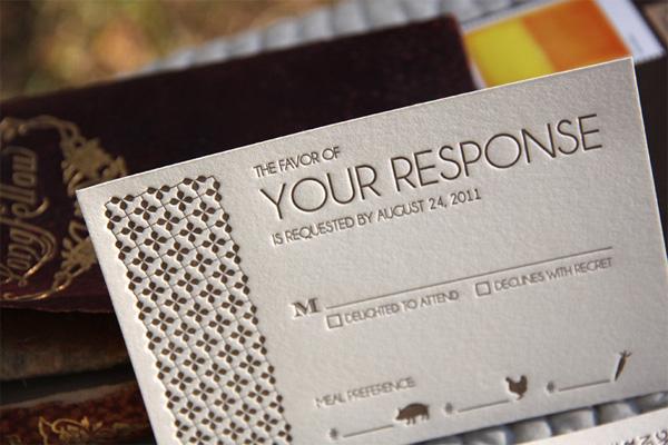 Letterpress Response Cards