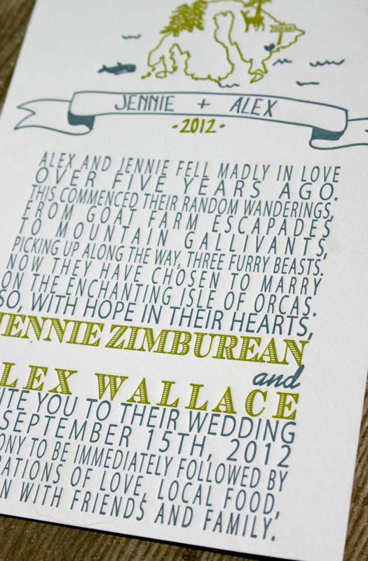 Summer Camp Inspired Wedding Invitations
