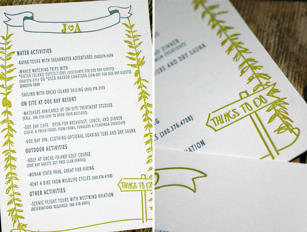 Woodland Letterpress Wedding Invites