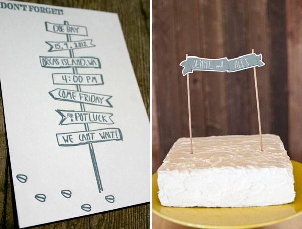 custom wedding cake topper - Summer Wedding Invitations