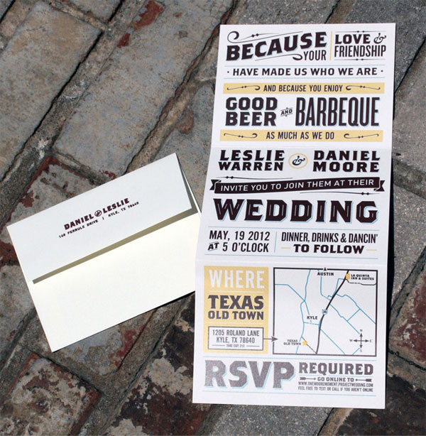 vintage poster style wedding invitations - Vintage Style Wedding Invitations