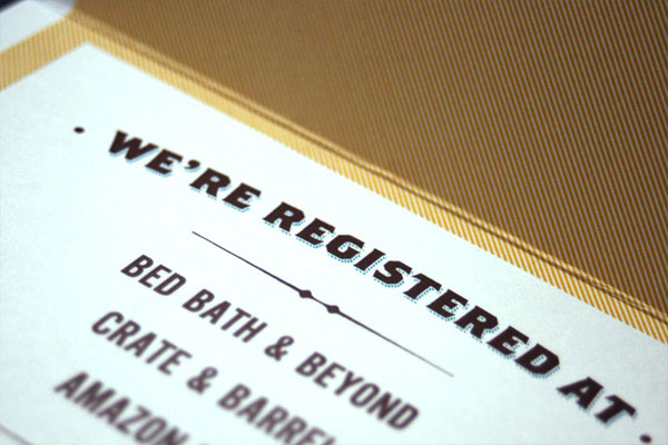 Wedding Registry Invitation: Daniel + Leslie's Vintage Poster Style Wedding Invites