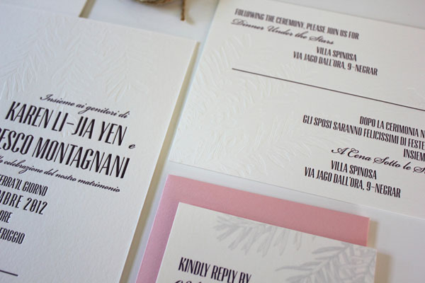 Typography Wedding Invites