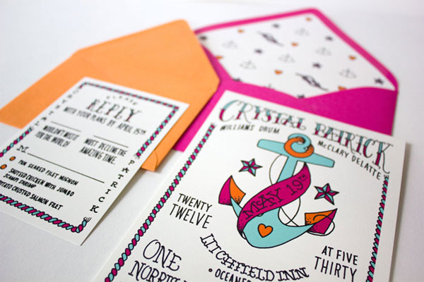 Faye & Co. Custom Wedding Invitation Design
