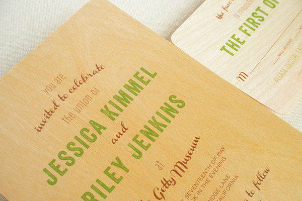 Typography Wedding Invitations by Night Owl Paper Goods