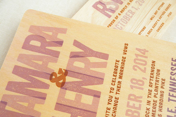 Typographic Wedding Invitations