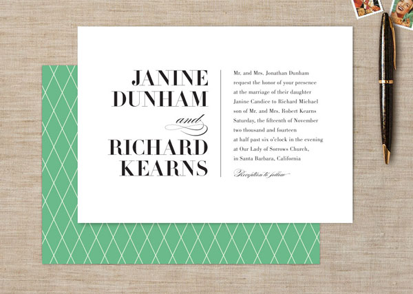 Modern Wedding Invitations Pattern