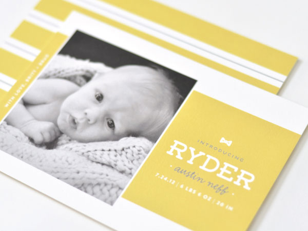 Custom Birth Announcements by Palm Papers