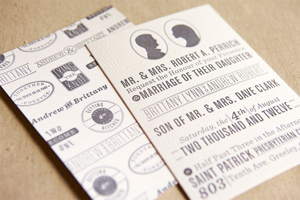 Wood Texture Wedding Invites