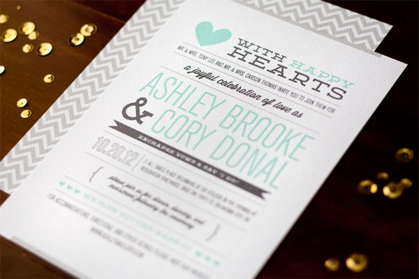 modern love story wedding invitations - Modern Wedding Invites