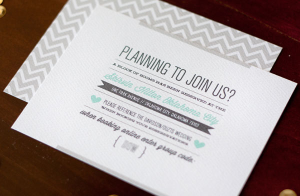 Chevron Pattern Wedding Invites
