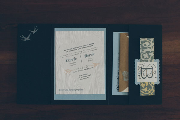 Woodgrain Wedding Invitation Suite