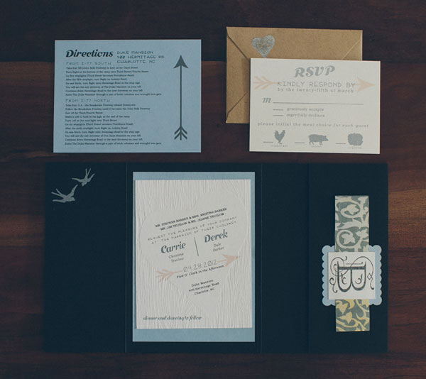 Sweet Woodsy Wedding Invites
