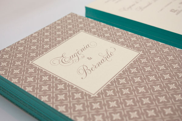 Elegant Moroccan Inspired Wedding Invitations