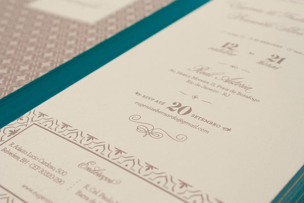 Beautiful Typography Wedding Invitations
