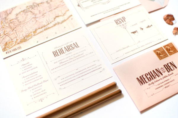 Romantic Vintage Inspired Wedding Invitations