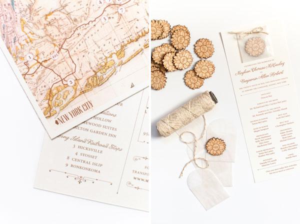 Vintage Inspired Custom Wedding Invitations