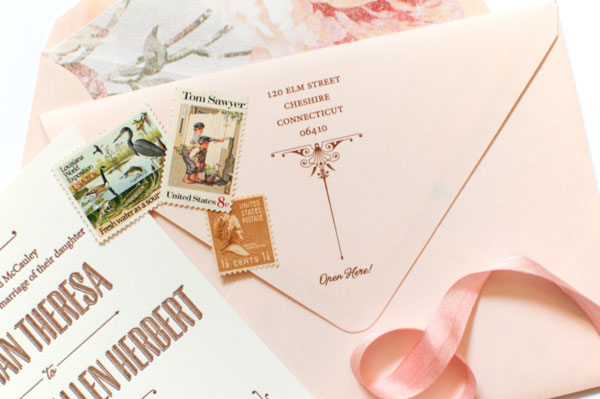 Romantic Nostalgic Wedding Invitation Envelopes