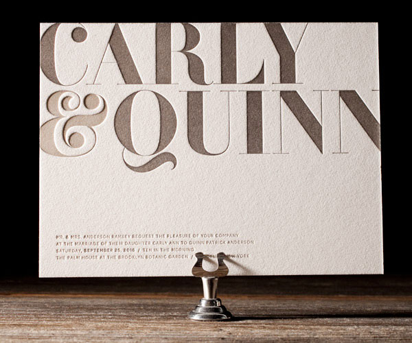 Carly Letterpress Wedding Invitations