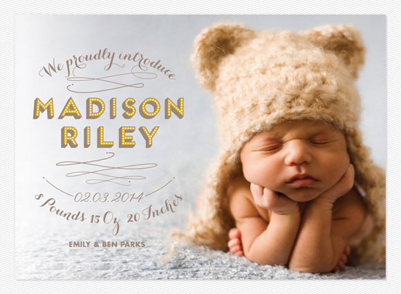 Love vs. Design Birth Announcements