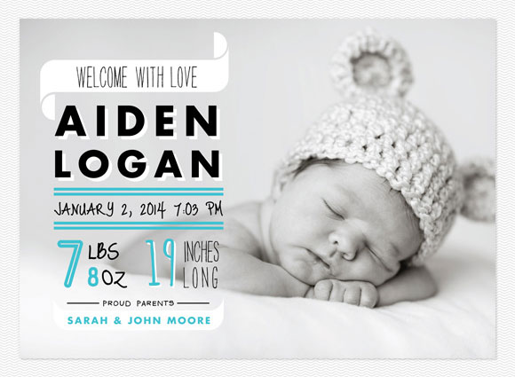 Adorable Photo Birth Announcements