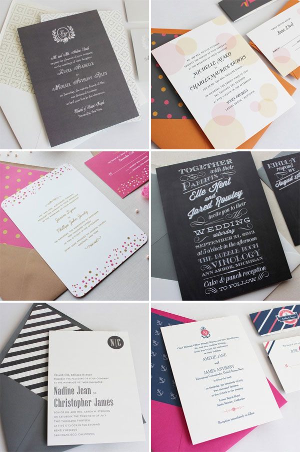 Modern Wedding Invitations by Papela