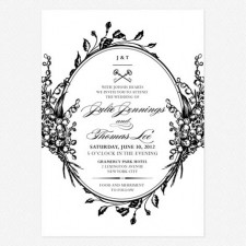Antique Chic Wedding Invitations