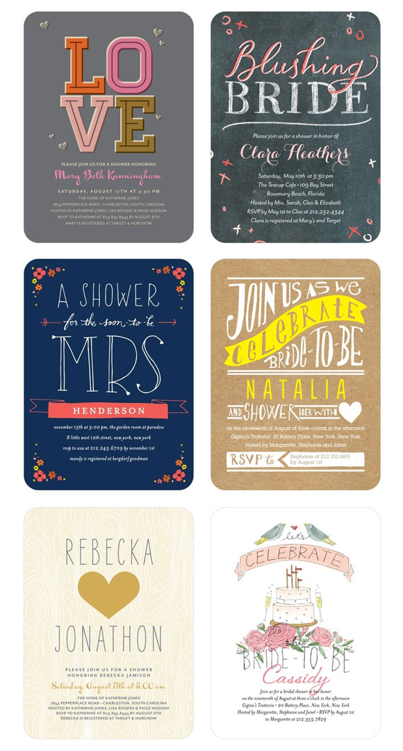 Modern Bridal Shower Invitations