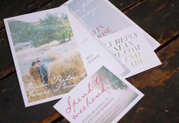 Dreamy Photo Wedding Invitations