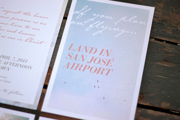Typography Photo Wedding Invites