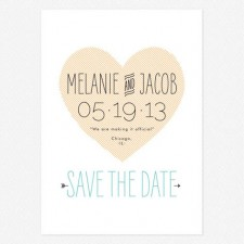 Heart to Heart Save the Date Cards